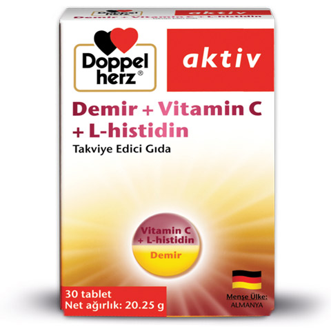 Doppelherz Demir + Vitamin C + L-histidin